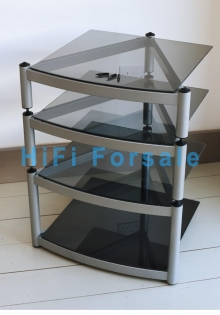 Tier Floor Standing Hifi Glass Shelves
